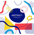 colorful abstract geometric shapes flat vector image