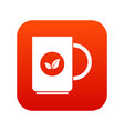 cup of tea icon digital red vector image vector image