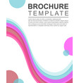 design background brochure template collection vector image vector image