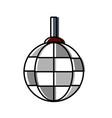disco lamp icon vector image vector image