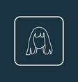 hairdresser icon line symbol premium quality vector image vector image