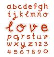 hand drawing fonts vector image