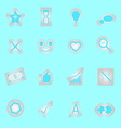 Idea symbol icons sticker on blue background vector image