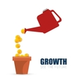 investment growth finance money concept vector image