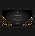 invitation card - luxury black and gold style vector image
