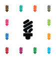 isolated light icon fluorescent element vector image