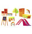 kindergarten furniture for children class room vector image vector image