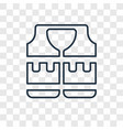lifejacket concept linear icon isolated on vector image vector image