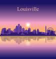 louisville city silhouette on sunset background vector image vector image