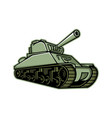 m4 sherman medium tank mascot vector image vector image