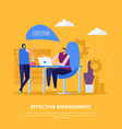 management collaborations flat background vector image vector image