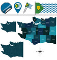 map of vancouver with neighborhoods vector image