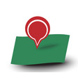 map pointer red label place for text with shadow vector image vector image