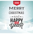 Merry Christmas background with winter landscape vector image vector image