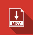 mkv file document icon download mkv button icon vector image vector image