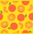 orange retro style seamless pattern for wallpaper vector image vector image