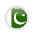 Pakistan icon circle vector image