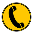 Phone button vector image vector image