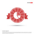 pie chart - red ribbon banner vector image vector image