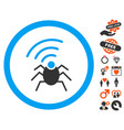 radio spy bug icon with dating bonus vector image