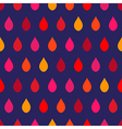 Red Tone Rain Navy Blue Background vector image vector image