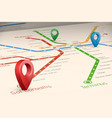 relistic abstract blured map of subway routes in vector image vector image