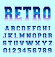 retro alphabet font template vector image vector image