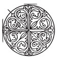 romanesque circular panel is a design found on a vector image vector image