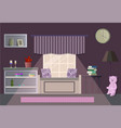 room in flat style vector image