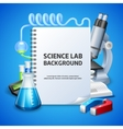 Science Lab Background vector image vector image
