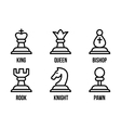 set chess icons vector image vector image