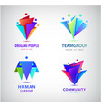 set human people group logos family vector image