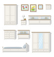 set of classical bedroom furniture vector image
