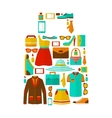 Shopping sale carry bag emblem vector image vector image