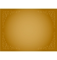 simple gold ornamental decorative frame vector image