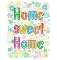 sweet home lettering decorative text vector image