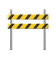 trafic barrier vector image