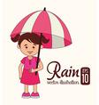 Umbrella design over white background vector image