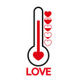 valentines day card idea love meter vector image
