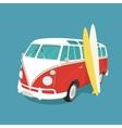 Van surf retro vector image vector image