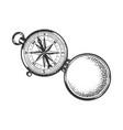vintage compass sketch vector image