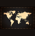 Vintage detailed ancient world map on dark