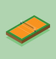 volleyball court isometric flat design vector image vector image