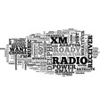 what are the features of delphi xm roady radio vector image vector image