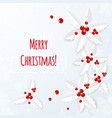 White paper Christmas greeting card vector image vector image
