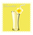 Yellow smoothie in glass vector image