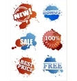 Set of splashy labels vector image