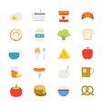 Breakfast Flat Icons color vector image