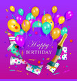 happy birthday banner poster template vector image