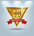 10 years anniversary celebration logotype vector image vector image